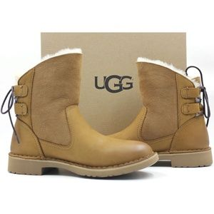 UGG Naiyah Women's Leather Suede Boots Size 5.5